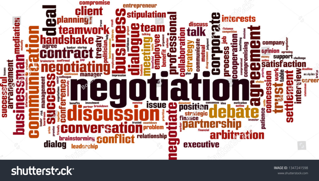 stock vector negotiation word cloud concept collage made of words about negotiation vector illustration 1347241598